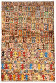 Moroccan 베르베르 - Afghanistan 러그 94X139 정품  모던 수제 다크 브라운/다크 레드 (울, 아프가니스탄)