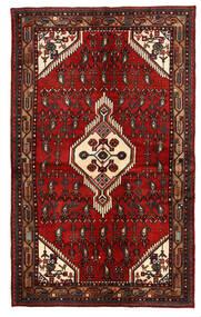 하마단 러그 135X221 정품 오리엔탈 수제 다크 레드/다크 브라운 (울, 페르시아/이란)