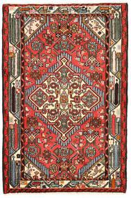 하마단 러그 82X125 정품 오리엔탈 수제 블랙/다크 브라운 (울, 페르시아/이란)