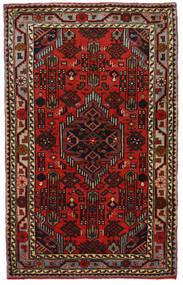 하마단 러그 81X130 정품 오리엔탈 수제 다크 브라운/다크 레드 (울, 페르시아/이란)