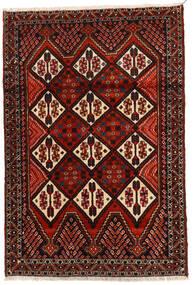 아프샤 러그 114X167 정품  오리엔탈 수제 다크 브라운/다크 레드 (울, 페르시아/이란)
