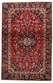 케샨 러그 105X147 정품  오리엔탈 수제 다크 레드/다크 퍼플 (울, 페르시아/이란)