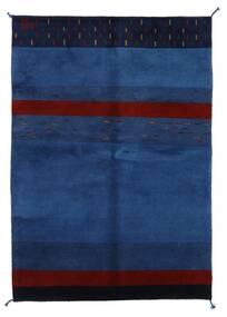 가베 인도 러그 143X205 정품  모던 수제 다크 블루/다크 퍼플 (울, 인도)