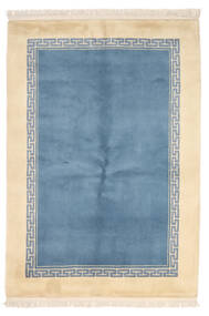 중국 90 라인 러그 137X198 정품 오리엔탈 수제 라이트 블루/베이지 (울, 중국)