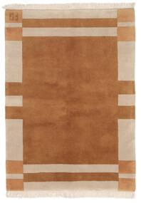 가베 인도 러그 141X197 정품 모던 수제 브라운/다크 브라운 (울, 인도)