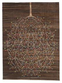 가베 Loribaft 러그 170X227 정품  모던 수제 다크 브라운/브라운 (울, 인도)