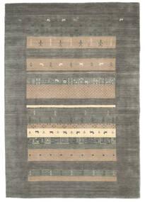 로리바프 Loom 러그 137X164 정품  모던 수제 다크 그레이/라이트 그레이 (울, 인도)