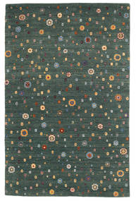 로리바프 Loom 러그 157X242 정품  모던 수제 다크 그린/블루 (울, 인도)