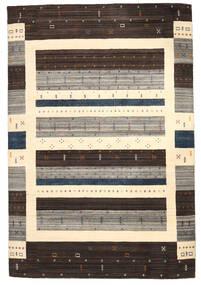 로리바프 Loom 러그 206X306 정품  모던 수제 다크 브라운/베이지/라이트 그레이 (울, 인도)