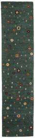 로리바프 Loom 러그 82X339 정품  모던 수제 복도용 러너  다크 그린 (울, 인도)
