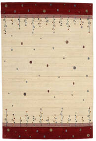 로리바프 Loom 러그 165X246 정품  모던 수제 베이지/크림슨 레드 (울, 인도)