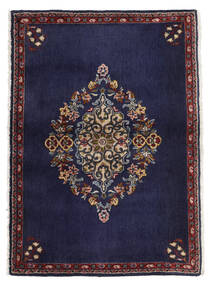 케샨 러그 68X96 정품  오리엔탈 수제 다크 퍼플/다크 브라운 (울, 페르시아/이란)