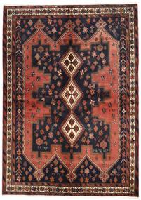 아프샤 러그 160X225 정품 오리엔탈 수제 다크 그레이/다크 레드 (울, 페르시아/이란)