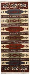 Turkaman 러그 87X210 정품 오리엔탈 수제 복도용 러너 다크 브라운/라이트 브라운 (울, 페르시아/이란)