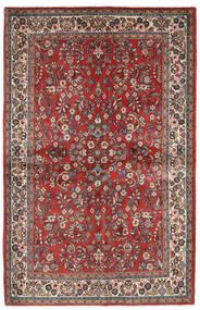 사로크 러그 132X206 정품 오리엔탈 수제 다크 레드/베이지 (울, 페르시아/이란)