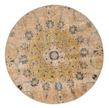 빈티지 Heritage 러그 Ø 150 정품  모던 수제 원형 다크 베이지/라이트 브라운 (울, 페르시아/이란)