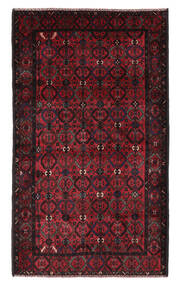 벨루치 러그 115X196 정품 오리엔탈 수제 블랙/다크 레드 (울, 아프가니스탄)
