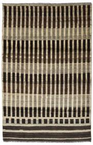Moroccan 베르베르 - Afghanistan 러그 116X181 정품  모던 수제 다크 브라운/라이트 브라운 (울, 아프가니스탄)