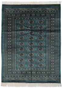 파키스탄 보카라 2Ply 러그 124X162 정품 오리엔탈 수제 블랙/다크 터코이즈 (울, 파키스탄)