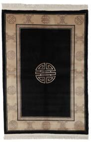 중국 90 라인 러그 140X200 정품 오리엔탈 수제 블랙/다크 브라운 (울, 중국)