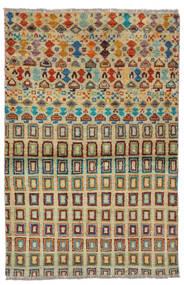 Moroccan 베르베르 - Afghanistan 러그 92X142 정품  모던 수제 다크 그린/다크 터코이즈   (울, 아프가니스탄)