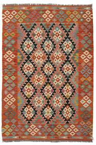 킬림 아프가니스탄 올드 스타일 러그 125X184 정품  오리엔탈 수제 다크 레드/다크 브라운 (울, 아프가니스탄)