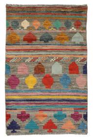 Moroccan 베르베르 - Afghanistan 러그 91X141 정품  모던 수제 다크 브라운/화이트/크림 (울, 아프가니스탄)
