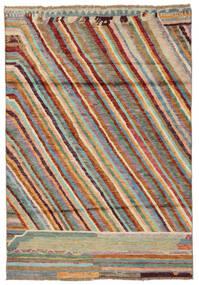 Moroccan 베르베르 - Afghanistan 러그 120X174 정품  모던 수제 다크 브라운/다크 그린 (울, 아프가니스탄)