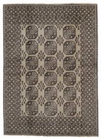 아프가니스탄 러그 192X266 정품 오리엔탈 수제 다크 브라운/다크 그레이/블랙 (울, 아프가니스탄)