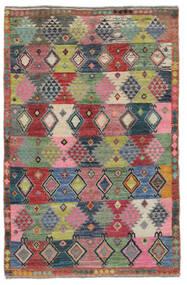 Moroccan 베르베르 - Afghanistan 러그 117X180 정품  모던 수제 다크 레드/블랙 (울, 아프가니스탄)