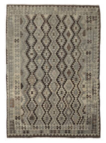 킬림 아프가니스탄 올드 스타일 러그 206X283 정품 오리엔탈 수제 다크 브라운/블랙 (울, 아프가니스탄)