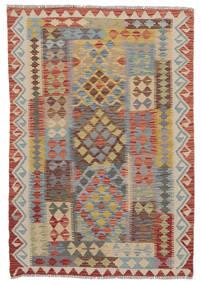 킬림 아프가니스탄 올드 스타일 러그 110X150 정품  오리엔탈 수제 다크 브라운/다크 그레이 (울, 아프가니스탄)