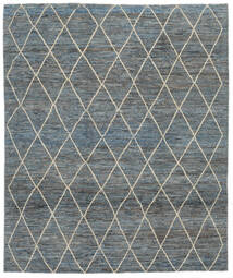 Moroccan 베르베르 - Afghanistan 러그 244X293 정품  모던 수제 다크 그레이/다크 그린 (울, 아프가니스탄)