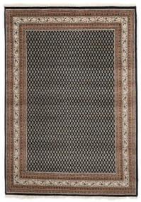 Mir 인도 러그 170X240 정품  오리엔탈 수제 다크 브라운/블랙 (울, 인도)