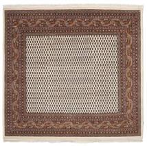 Mir 인도 러그 188X200 정품  오리엔탈 수제 사각형 다크 브라운/블랙 (울, 인도)